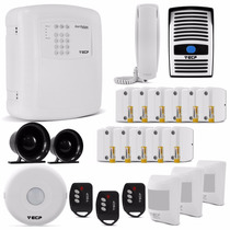 Kit Segurança Residencial Comercial Alarme Porteiro Sensor