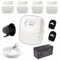 Kit Alarme Residencial Ou Comercial Com 4 Sensores Sem Fio
