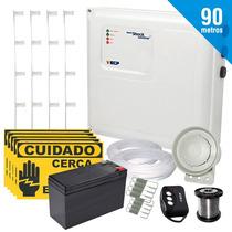 Kit Cerca Elétrica E Alarme Com Bateria P/ 90 Metros +brinde