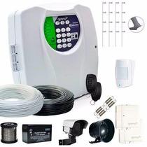 Kit Cerca Elétrica Genno 120m Discadora + Alarme Sem Fio