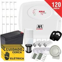 Kit Cerca Elétrica Com Alarme Ecr 8 Plus Jfl 4 Sensores Par