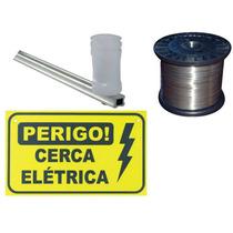 Kit Cerca Elétrica 40 Metros Falsa 16 Hastes, 8 Placas, Fio