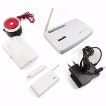 Kit Residencial De Alarme Sistema Wireless Sms/gprs Gsm C304