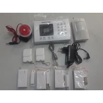 Kit Alarme Residencial Com 4 Sensores De Portas E 1 Infra