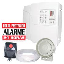 Kit Alarme Residencial Ppa Controle Sirene E Cabo + Brinde