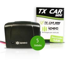 5 Peças - Controle P/ Farol Do Carro Portão Tx Car Ipec 433
