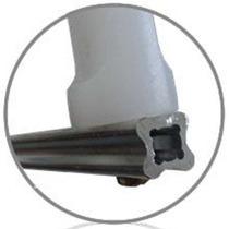 Haste Estrela D Aluminio 4 Isoladores Cerca Elétrica 20 Uni