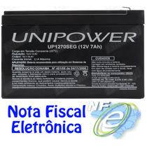 Bateria Selada 12v 7a Unipower - Para Alarme Cerca Eletrica