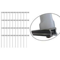 Kit 20 Hastes De Aluminio Estrela Cerca Eletrica 4 Isolador