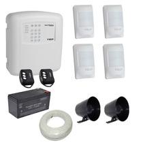 Kit Alarme Residencial E Comercial Sem Fio Ecp Iso 9001 Disc