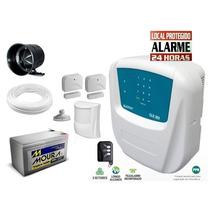 Kit Alarme Residencial/comercial 3 Sensores Sem Fio Sulton