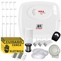 Kit Cerca Elétrica C/ Alarme Resid. Jfl + 4 Sensores P/ 80m