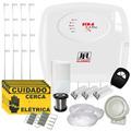 Kit Cerca Elétrica Com Alarme Jfl P/ 120 Metros + 4 Sensores