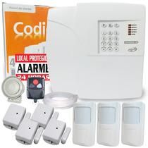 Kit Alarme Residencial E Comercial Sem Fio Ppa 7s + Brinde