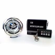 Alarme Moto Caixa De Som Mp3 Usb Fm Cartão Sd Radio Pendrive
