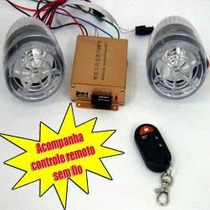 Alarme Moto Caixa De Som Mp3 Usb Radio Fm Seguranca Controle