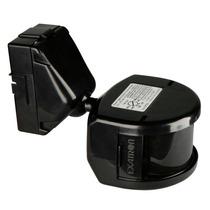 Sensor De Presença Externo Preto 180º Biv Exatron Spføexbc