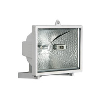 Refletor S/sensor Lâmpada Halógena 300w Branco
