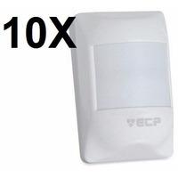 Kit 10 Sensor Infravermelho Sem Fio Ivp Visory Rf Saw Ecp