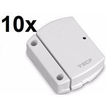 Kit 10 Sensor Sem Fio Alarmes 433mhz Magnetico Intruder Ecp