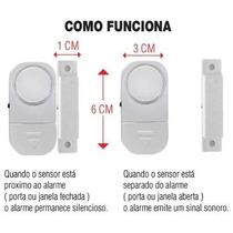 Alarme Residencial Sensor Magnético Sem Fio Portas E Janelas