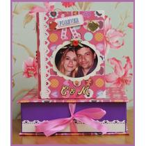 -= Mini Álbum 120 Fotos C/ Caixa Namorados 2 - Scrapbook -=