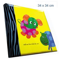 Álbum Jumbo, Sóbrio, 34x34cm P/ 500 Fotos De 10x15 Cm