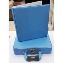 Álbum Fotográfico 13x18 À 20x25 Com Estojo Azul