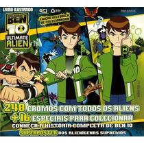 Álbum Ben 10 Ultimate Alien + Máscara + 20 Figurinhas