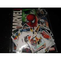 Marvel Super Herois - Album De Figurinha Completo 216 Cromos