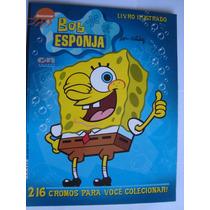 Álbum Bob Esponja Nickelodeon Com 10 Pacotinhos