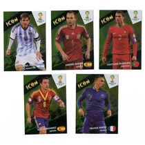 Cards Copa 2014 Adrenalyn Nordic Série Icons Completa