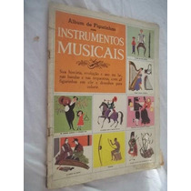 Antigo Album De Figurinhas Instrumentos Musicais Vazio Px