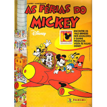 Álbum De Figurinhas As Férias Do Mickey Completo