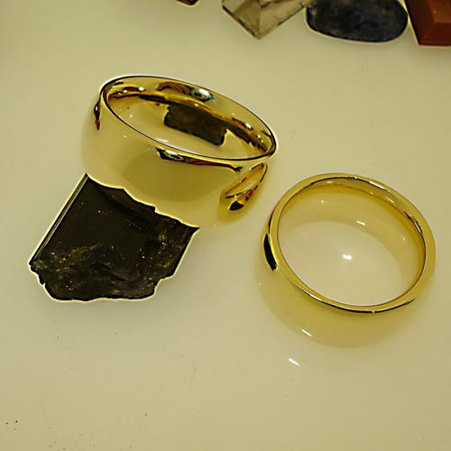 Aliança Ouro Banho 18k 10mm Anatômica Cód 245 Ojoalheiro