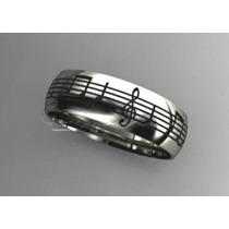 Par De Alianças Boleada Notas Musicais Prata 950