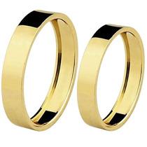 Par Alianças Ouro 18k - 5 Gramas 5mm Noivado E Casamento