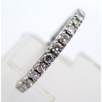 Feliz32 - Aliança Inteira De Diamantes Em Ouro Bco