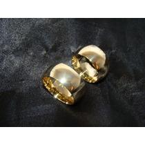 Par De Alianças Ouro 18k750 Com 10mm E 30grs Semi Anatômicas