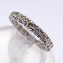Feliz32 - Magnífica Aliança Inteira De Diamantes 1,30 Cts