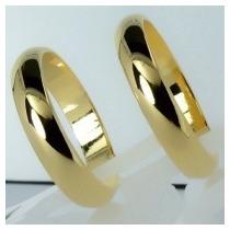 Par De Alianças 3,5mm Folheadas A Ouro 18k Noivado, Casament