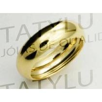 Frete Grátis Alianças Folheada C/3 Camadas Ouro 24k 6mm