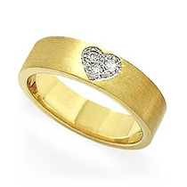 Par De Alianças Coração Sagrado Ouro 18k E Diamantes