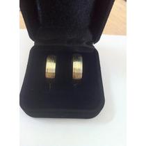 Par De Aliança Em Ouro 18k 0.750 Com 6mm E 14 Gramas