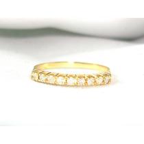 Pocao2005- Meia Aliança 18k 750 Diamantes Frete Gratis
