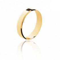 Aliança De Casamento Quadrada Ouro 18k Polido Frete Grátis