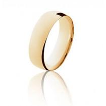 Aliança De Casamento Em Ouro 18k Anatômica Abaulada Lefine