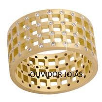 Par Alianças 20 Grs Ouro18k Diamantes Frete N.fiscal Lindas!
