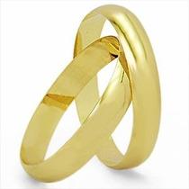 Par Alianças Ouro 18k 5 Gramas 4mm De Noivado Ou Casamento
