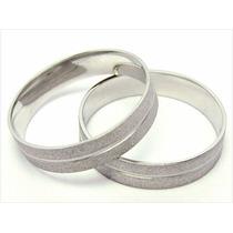 Aliança Ouro Branco 18k-750 5gr(par) Noivado-casamento